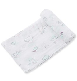 Angel Dear Unicorn Bamboo Swaddle Blanket