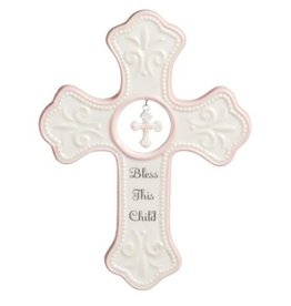 Hanging Cross (Pink)