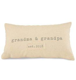 Grandparents Est. 2018 Pillow