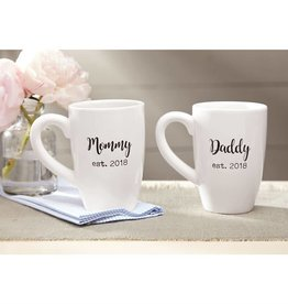 Parents Est. 2018 Mugs - Each