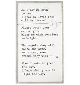 Goodnight Prayer Charm Plaque