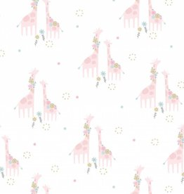 Angel Dear Floral Giraffes Bamboo Swaddle Blanket