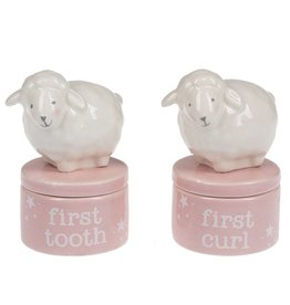 Lamb First Curl & First Tooth Keepsake Box set/2
