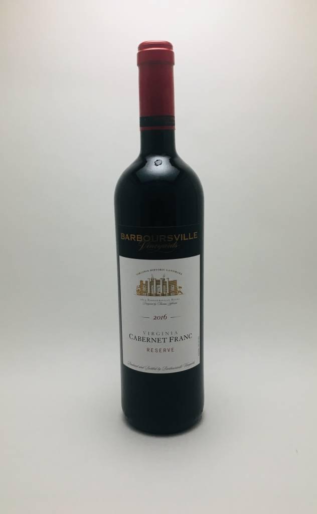 Barboursville Vineyards Cabernet Franc Reserve 2016