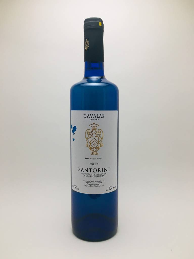 Gavalas Winery Blue Bottle Santorini Greece 2020
