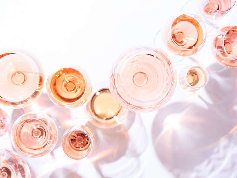 Looking at the World Through Rosé Filled Glasses