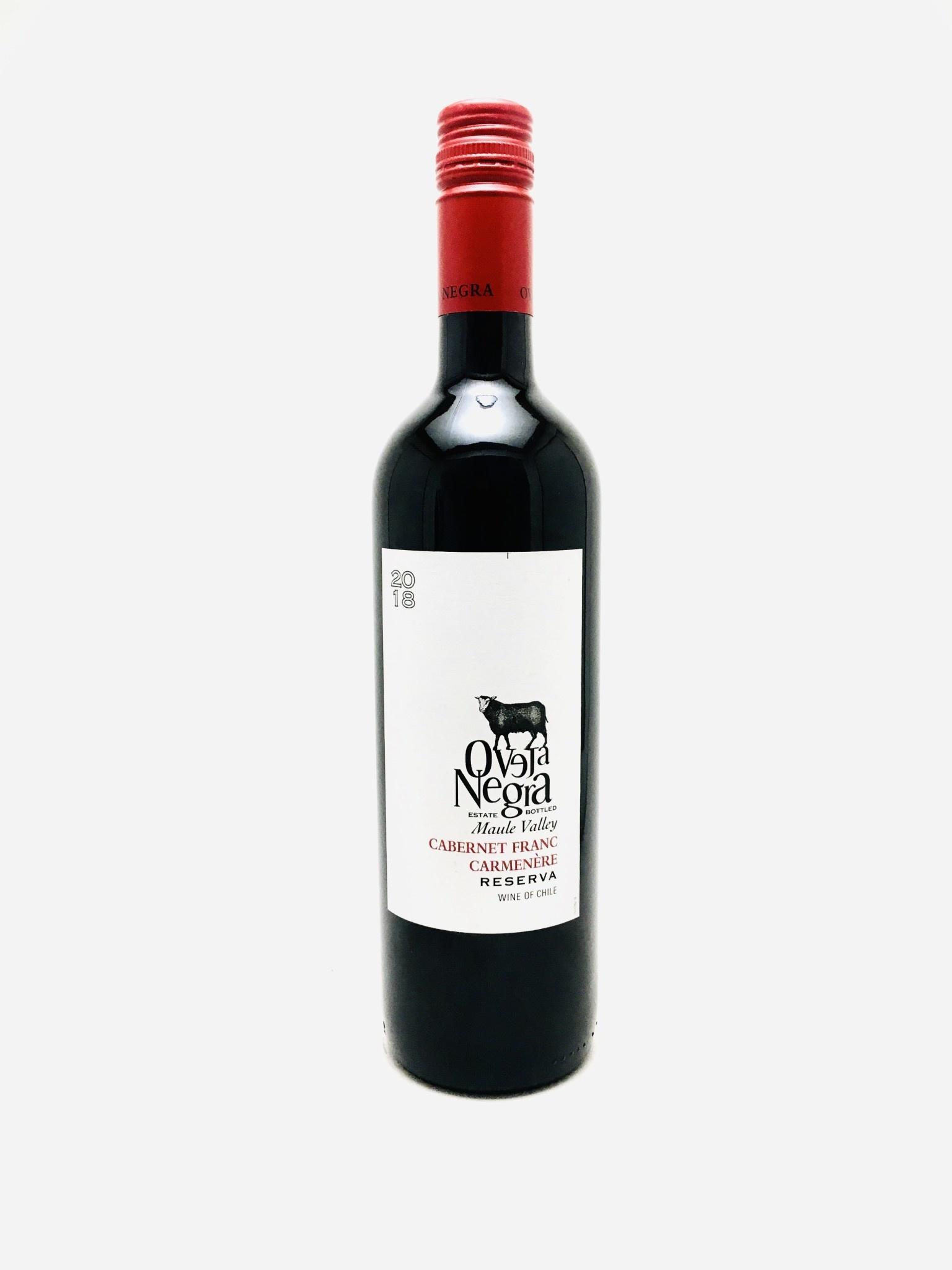 Oveja Negra Cabernet Franc Carmenere Reserva Estate Bottled Valle del Maule Chile 2018