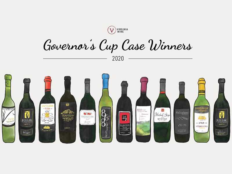 2020 Virginia Governor's Cup Award Winning Wines