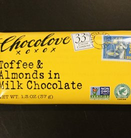 Chocolove Mini Toffee & Almonds in Milk Chocolate 1.3 oz