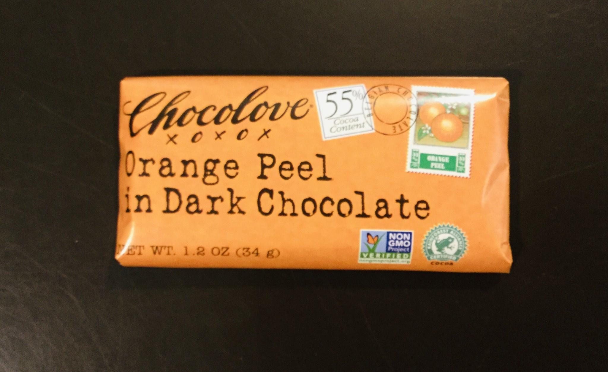 Chocolov Mini Orange Peel in Dark Chocolate 1.2 oz
