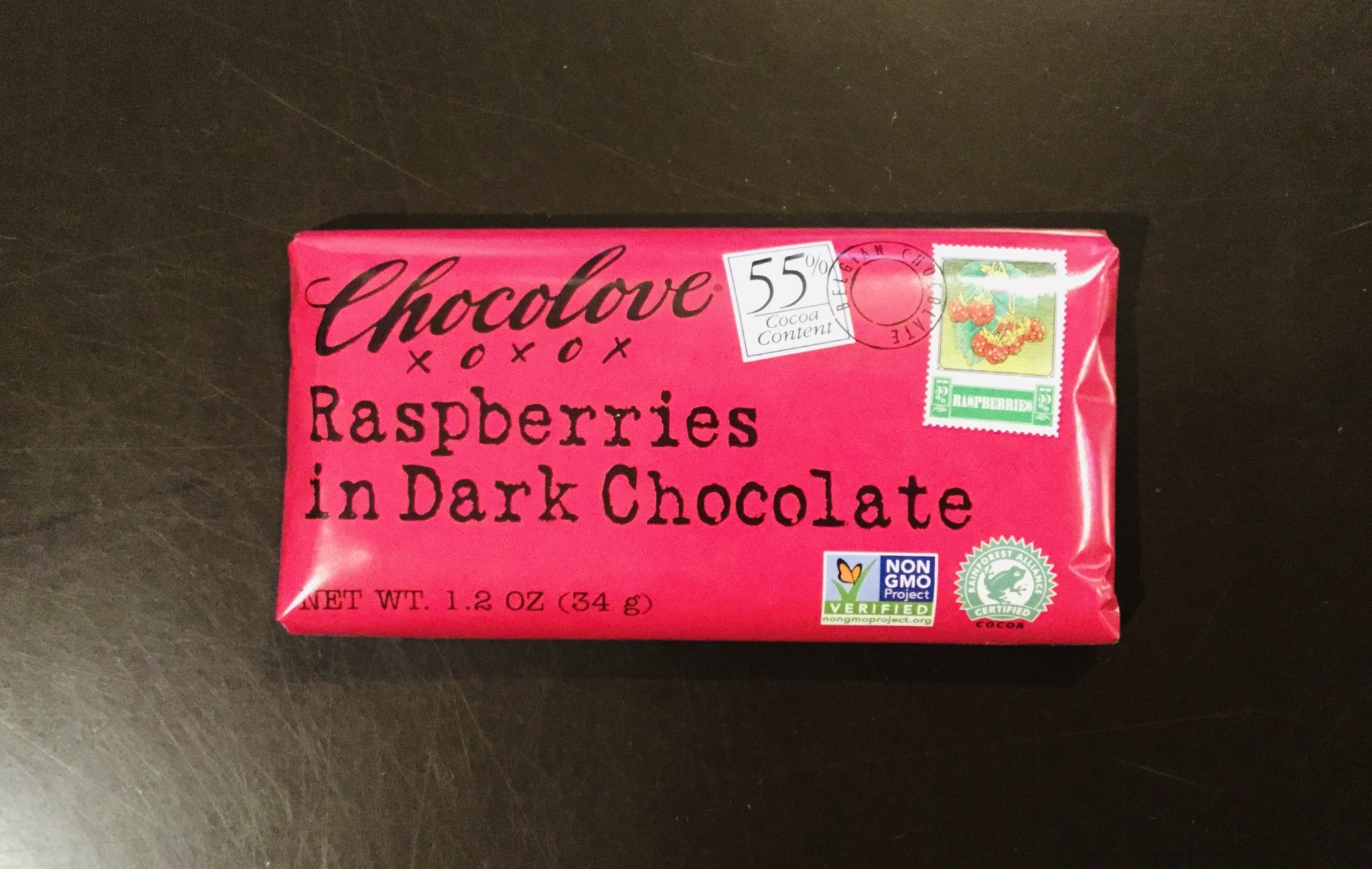 Chocolove Mini Raspberries in Dark Chocolate 1.2 oz