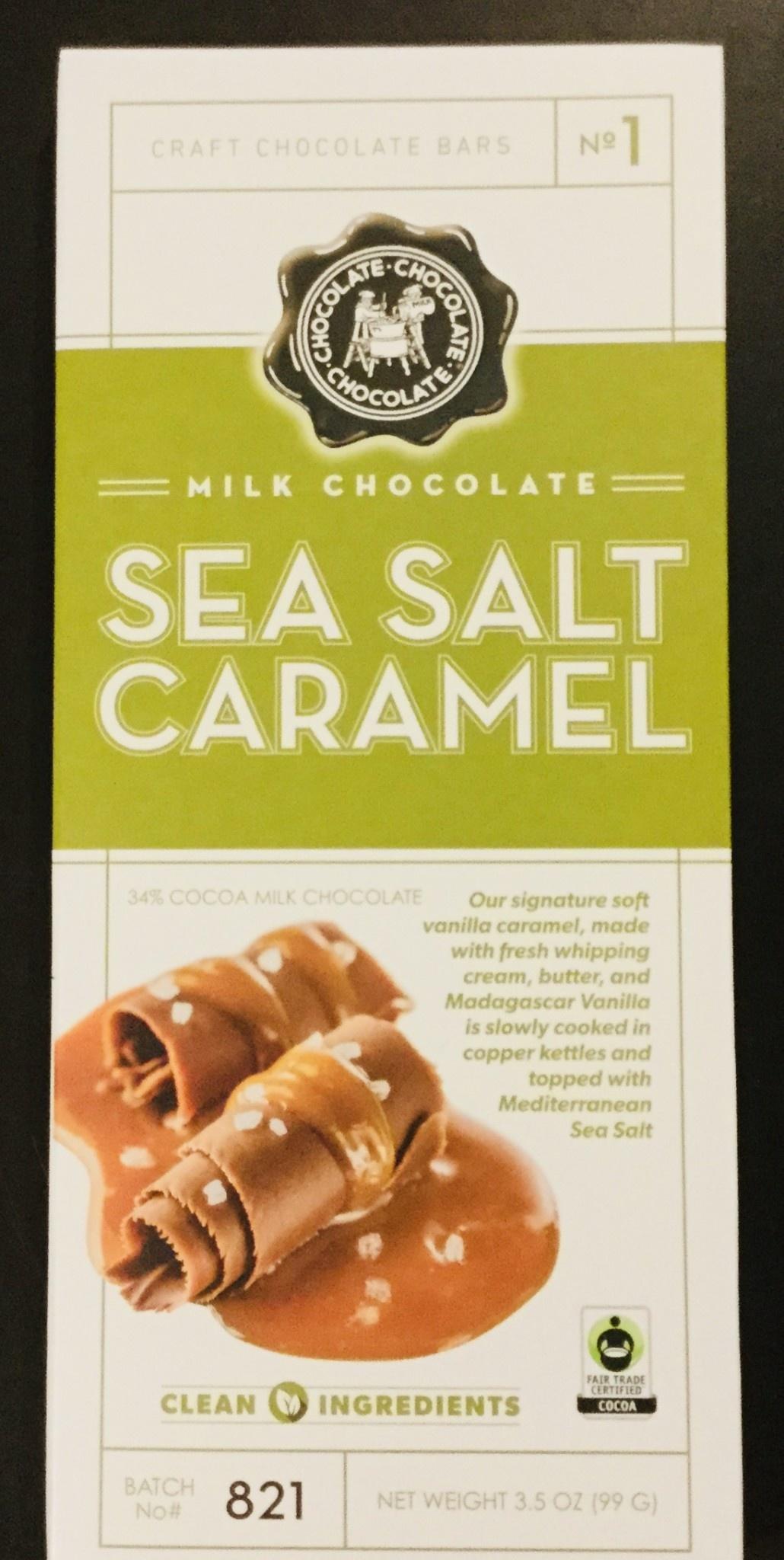 Chocolate Chocolate Chocolate - Milk Chocolate SEA SALT & CARAMEL BAR 3.5 oz