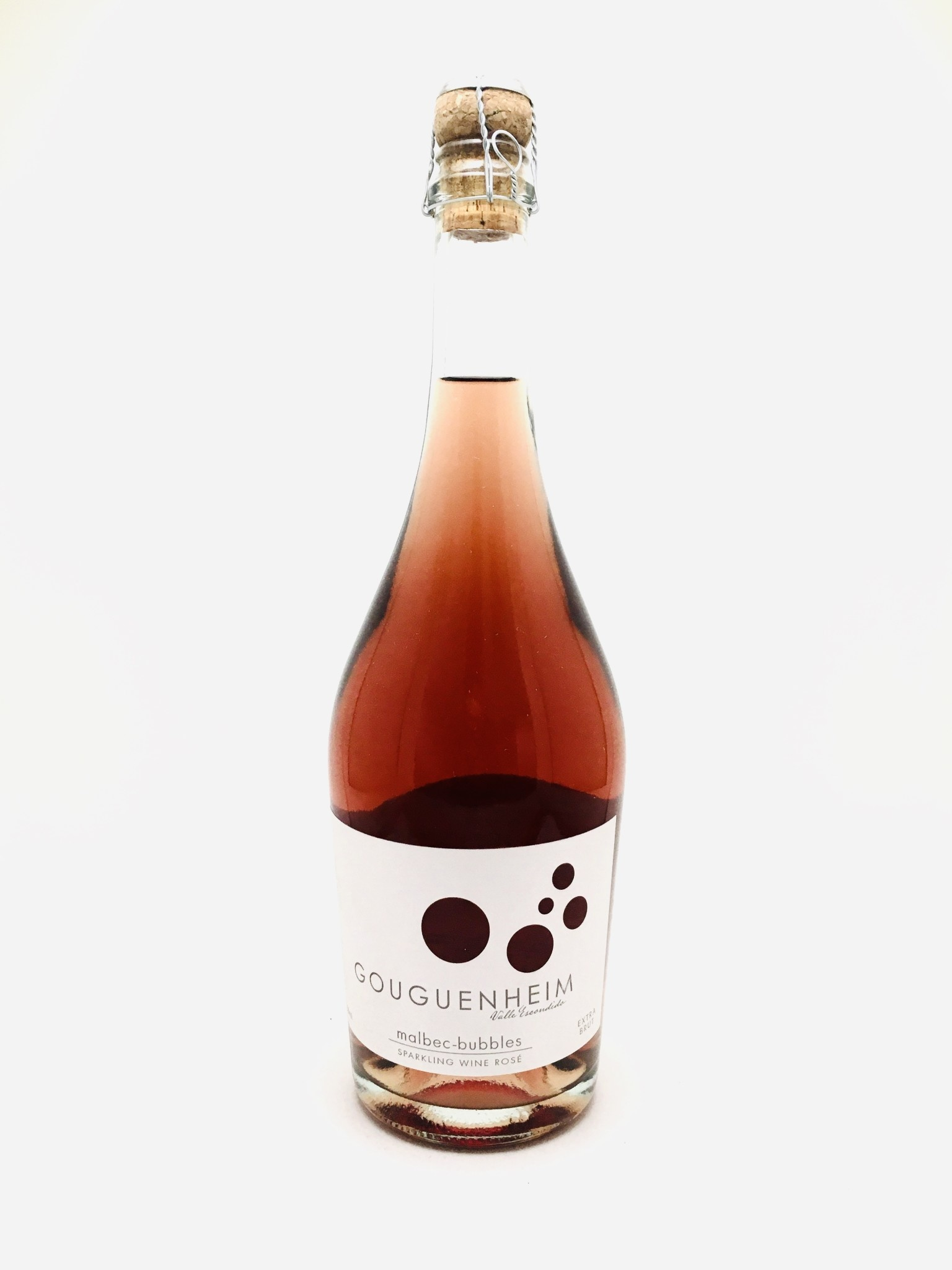 Gouguenheim Mendoza Malbec Extra Brut Bubbles Rosé NV