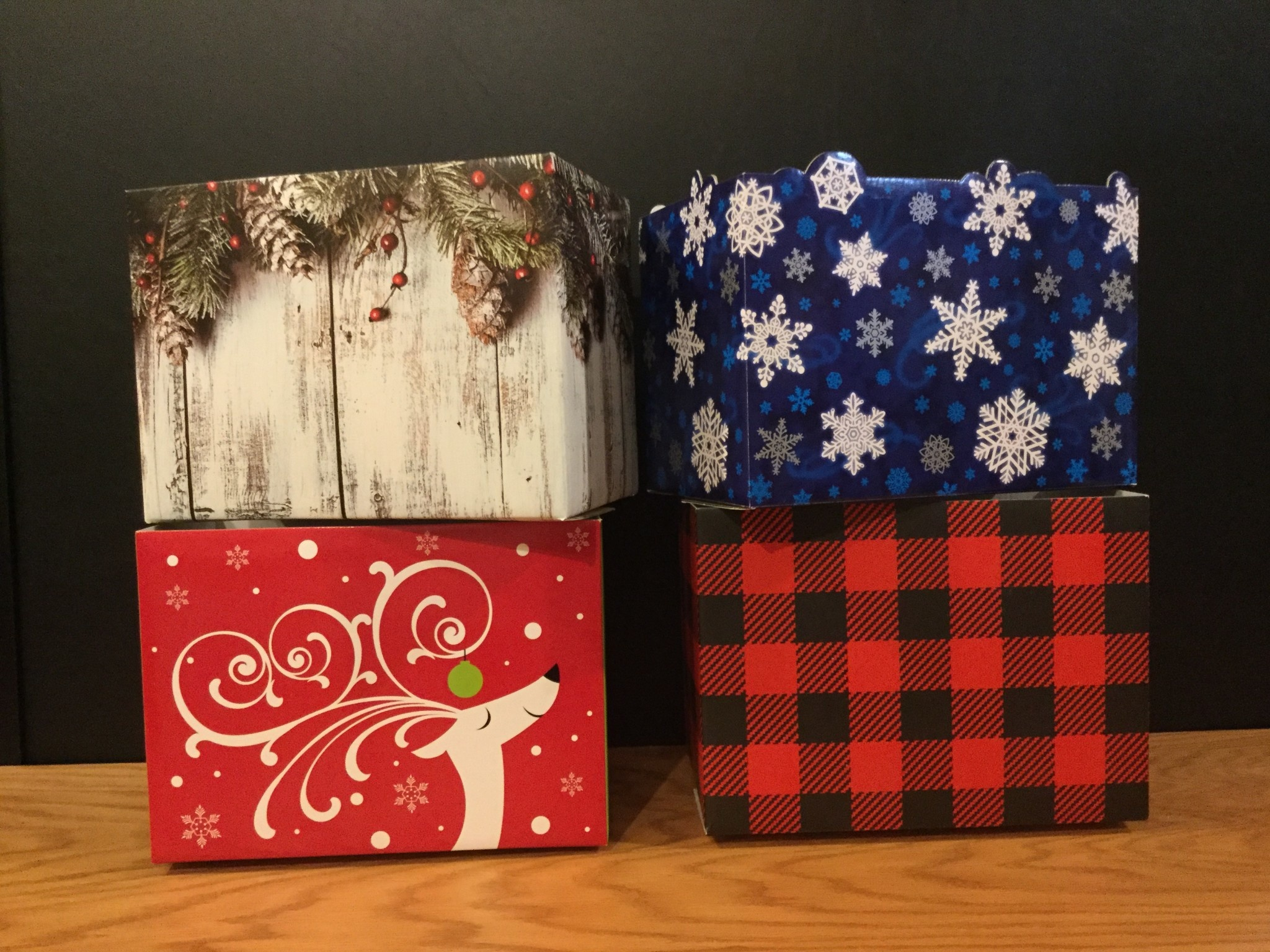 Gift Basket Box Large (Christmas/Winter)