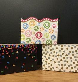 Gift Basket Box Large (Dots & Swirl)