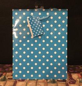 Gift Bag Aqua w/Dots
