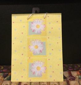 Gift Bag Yellow w/Flowers