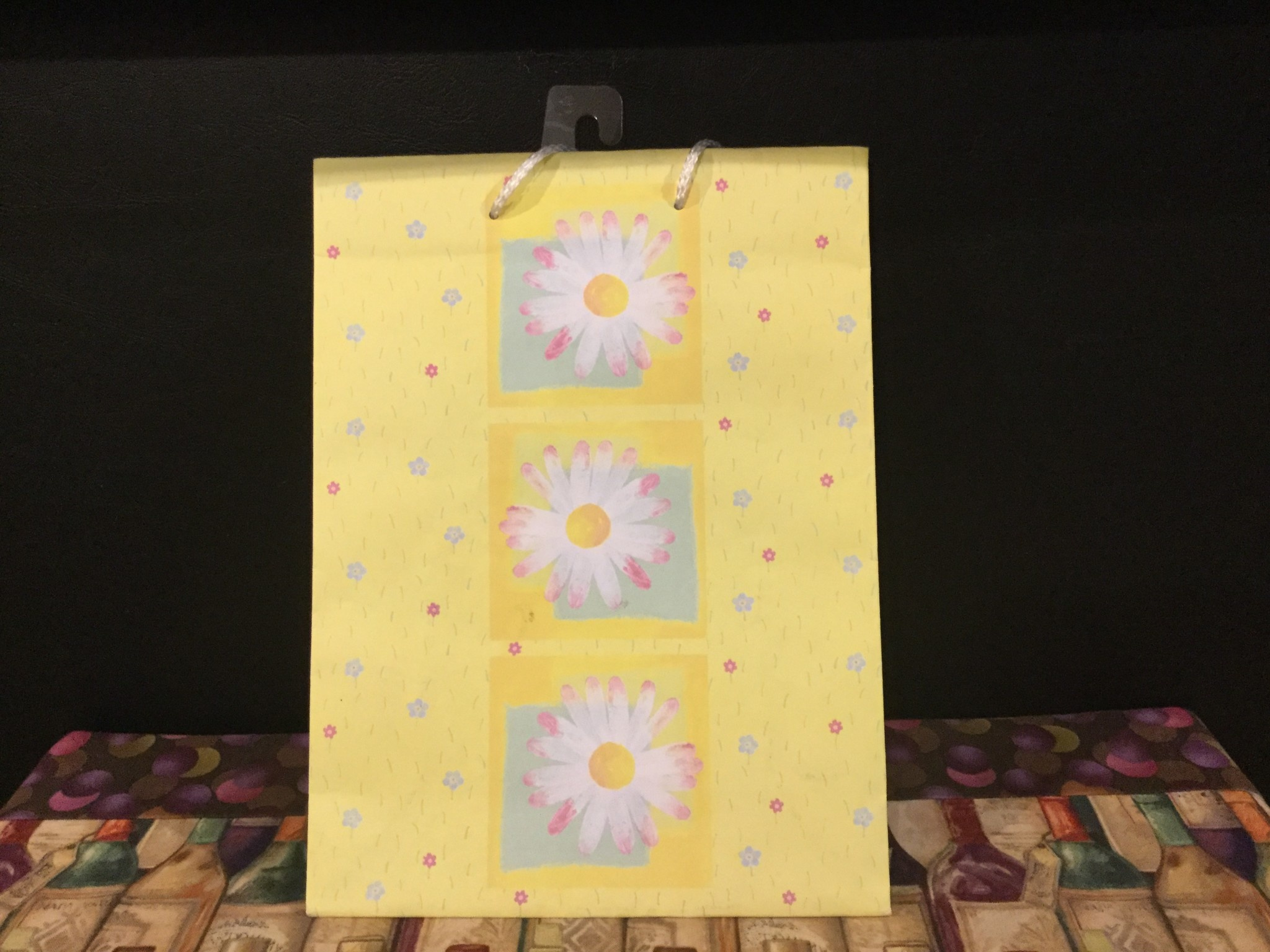Gift Bag Yellow w/Flowers