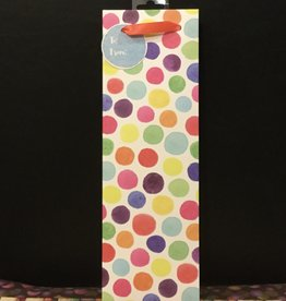 Wine Gift Bag Water Color Dots