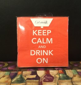 """Napkins by Cakewalk (20 pak) """"Keep Calm and Drink On"""""""