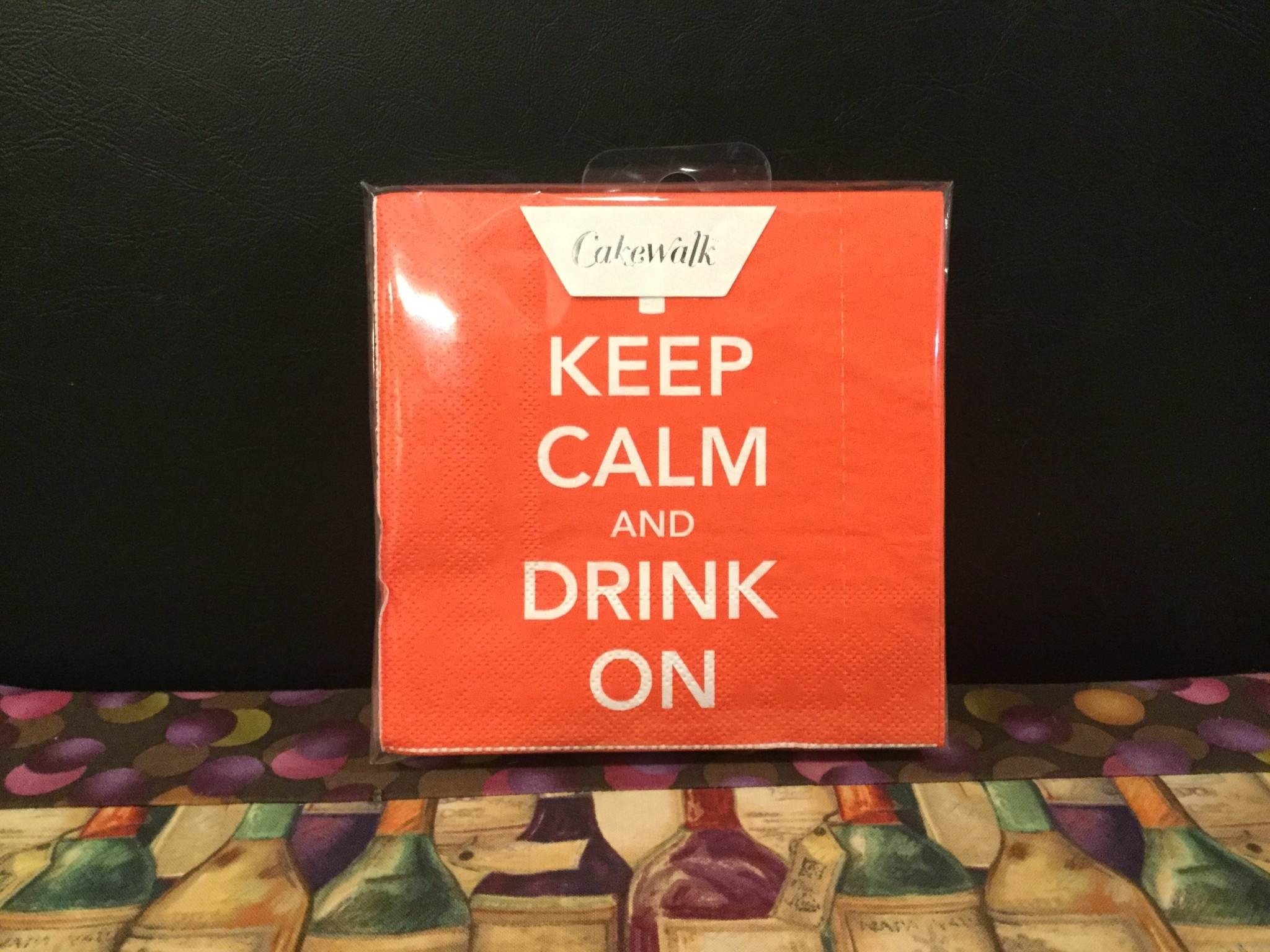 "Napkins by Cakewalk (20 pak) ""Keep Calm and Drink On"""