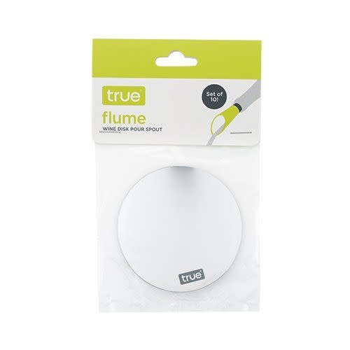 True Brands Flume Wine Disc Pour Spout 10pk