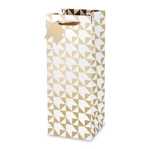 Wine Gift Bag Gold Arrow