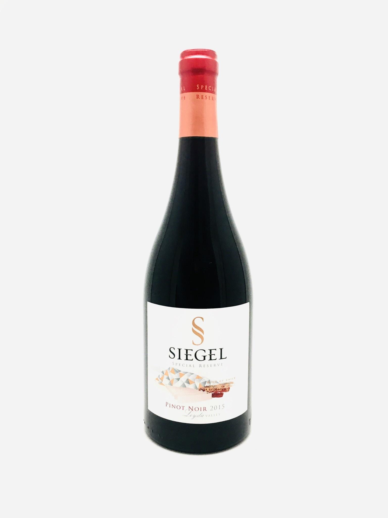 Viña Siegel Special Reserve Pinot Noir Leyda Valley Chile 2015