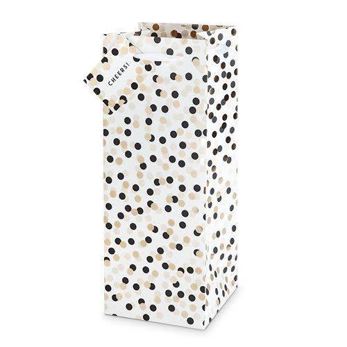 Wine Gift Bag Tuxedo Dots