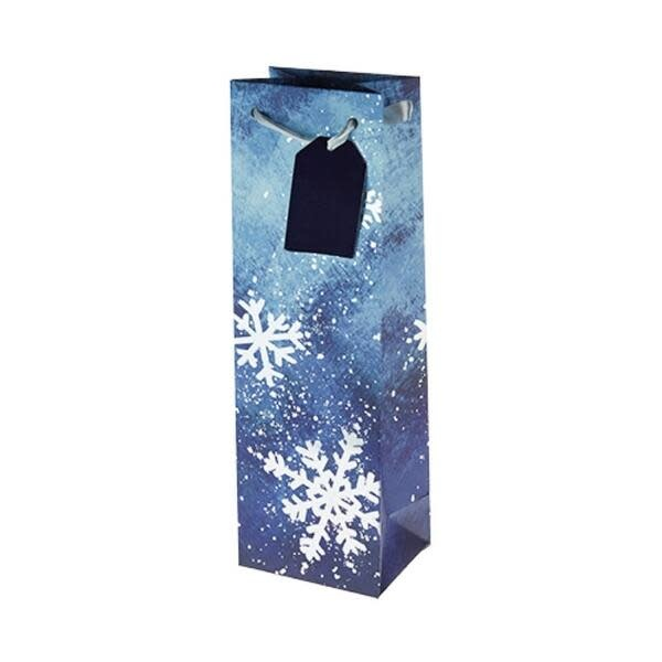Wine Gift Bag Brushed Snowflake