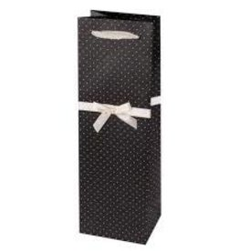 Wine Gift Bag Elegant Black & White