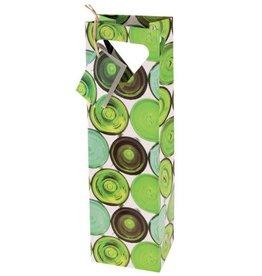 Wine Gift Bag Green Bottles