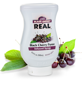 REÀL COCKTAIL Black Cherry Puree Infused Syrup 16.9 FL OZ