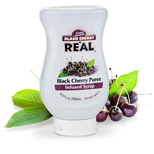 REÀL COCKTAIL Black Cherry Puree Infused Syrup 16.9 FL OZ
