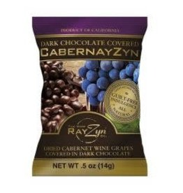 CABERZYN CHOCOLATE COVERED CABERNET GRAPES, 20 .5OZ BAGS