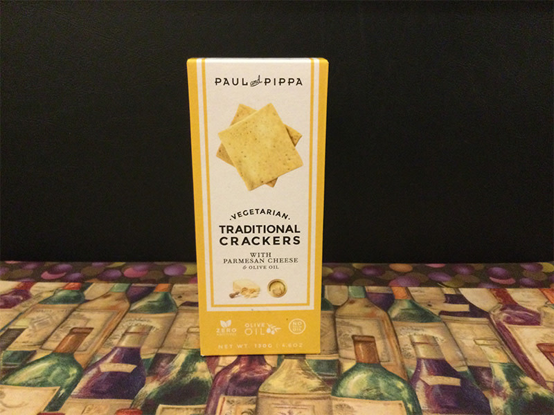 Crackers Paul and Pippa Parmesan Cheese