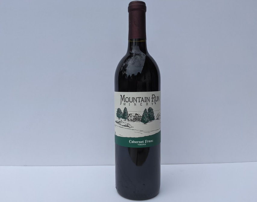 Mountain Run Winery Cabernet Franc Virginia 2017