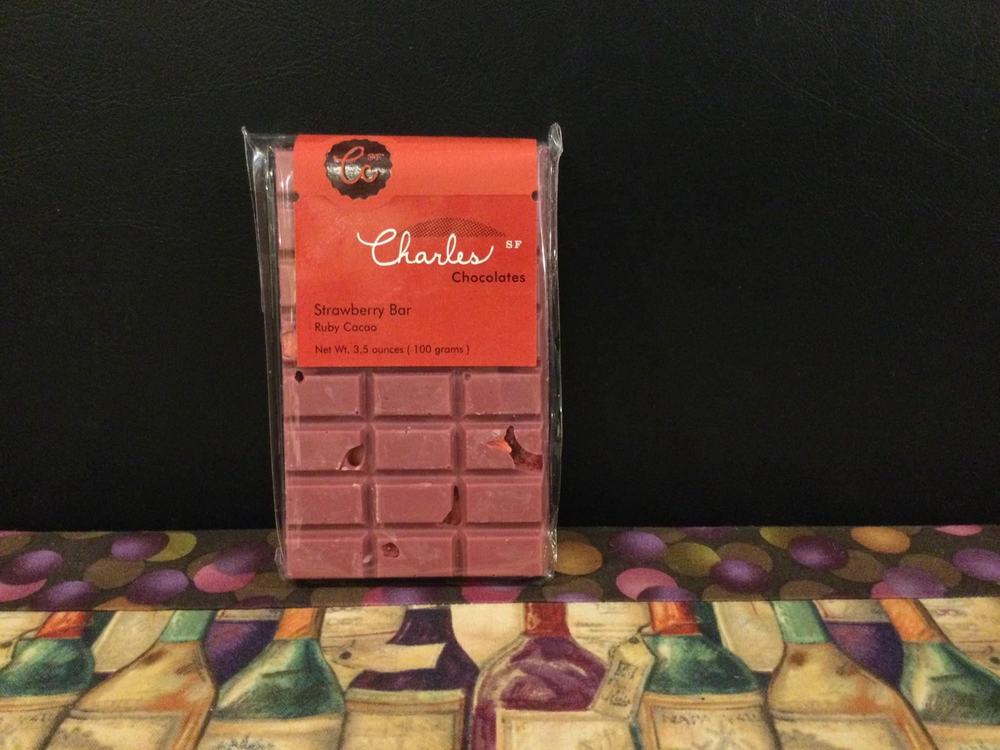 Charles Chocolate Ruby Strawberry bars