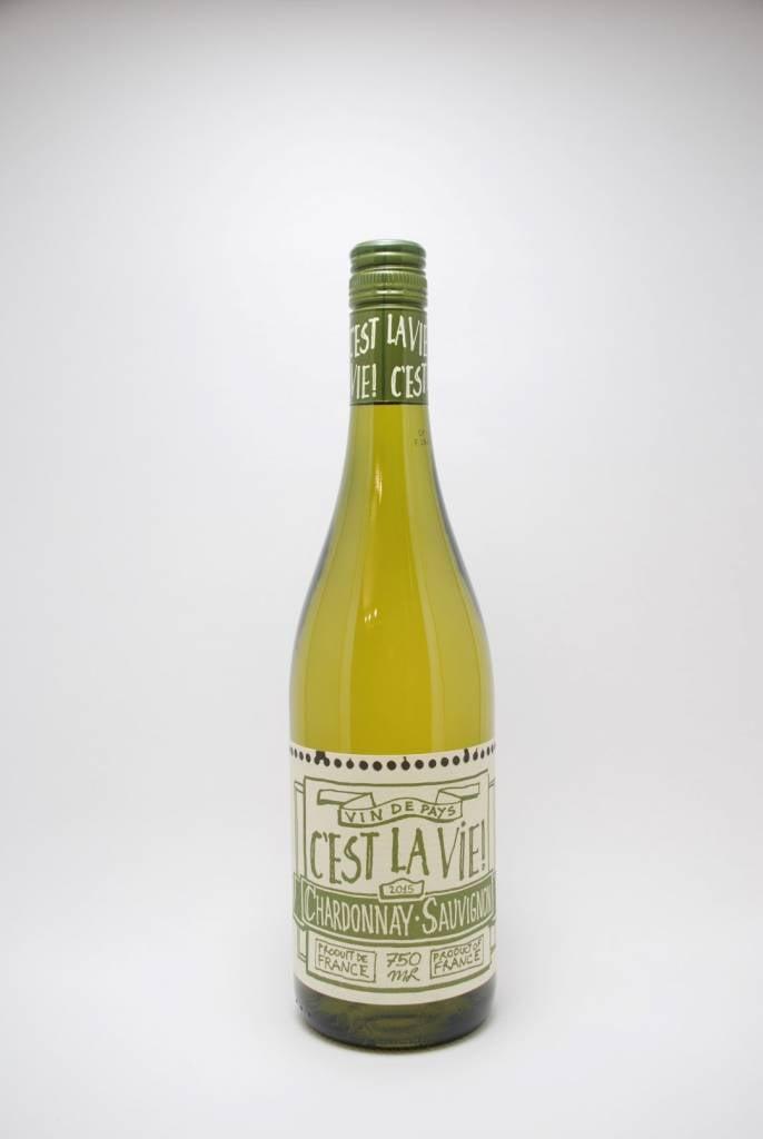 C'est la Vie Vin de Pays d'Oc Chardonnay Sauvignon Blanc 2015