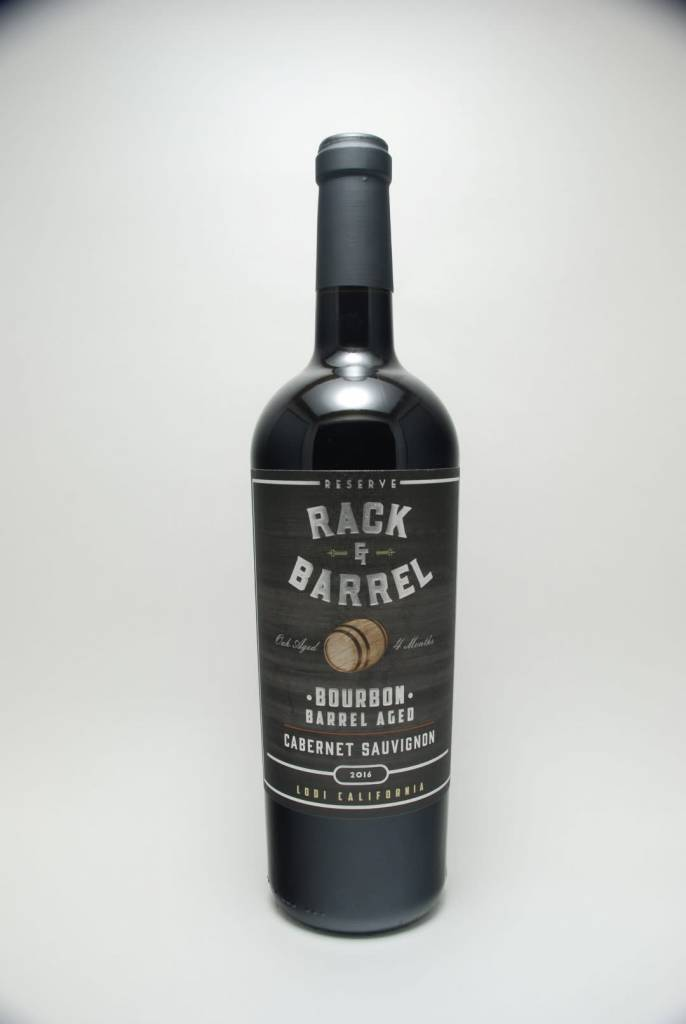 Rack & Barrel Bourbon Barrel Aged Reserve Cabernet Sauvignon Lodi California 2018