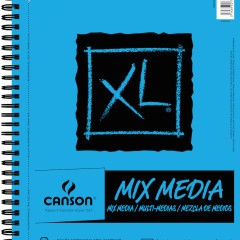 CANSON XL MIX MEDIA PAD 98LB SIDE COIL 60/SHT 9x12  6/ctn - net price