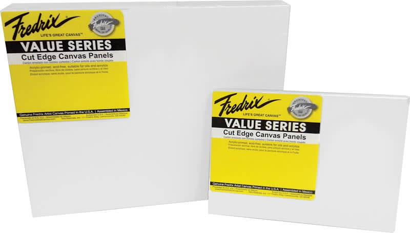 "Fredrix 8"" x 10"" Value Series Cut Edge Canvas Panel 6 Pack"
