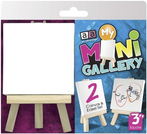 ART ADVANTAGE MY MINI GALLERY CANVAS AND EASEL SET/2    1245ST