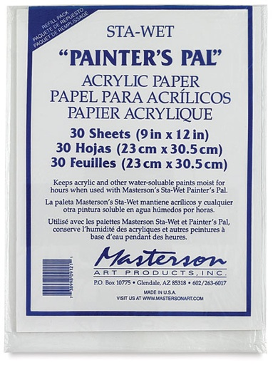 MASTERSON STA-WET PAINTERS PAL ACRYLIC PAPER REFILL 30/PK 9x12