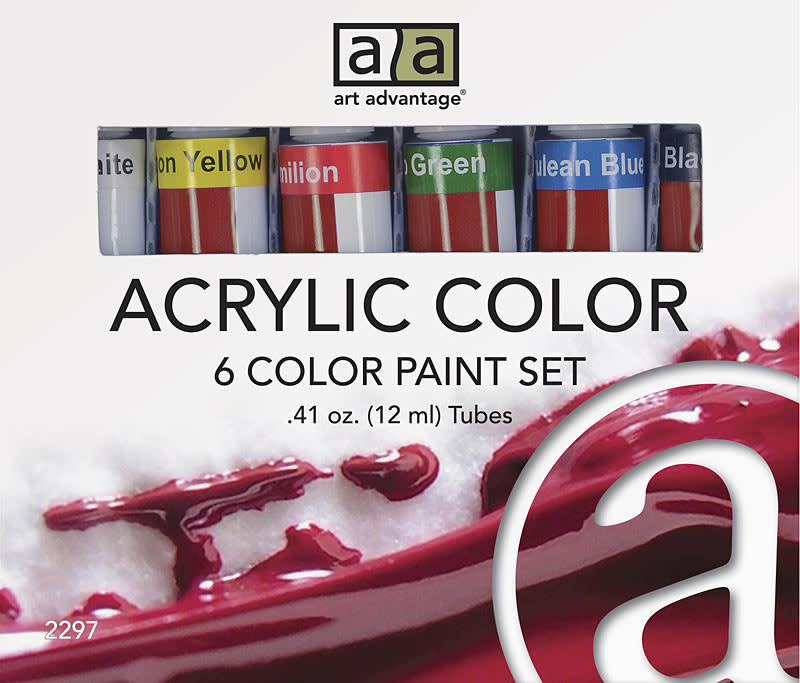 Art Advantage 12 ml Acrylic Paint 6 Color Set