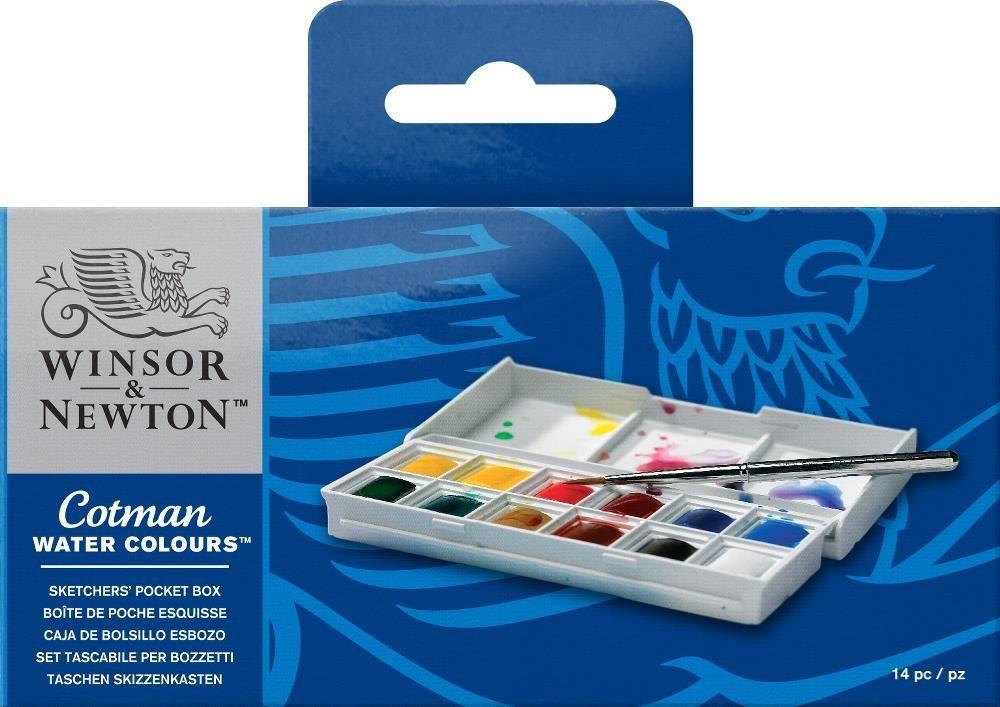 WINSOR NEWTON COTMAN SKETCHERS POCKET BOX SET/12 HALF PANS    WIN-0390640