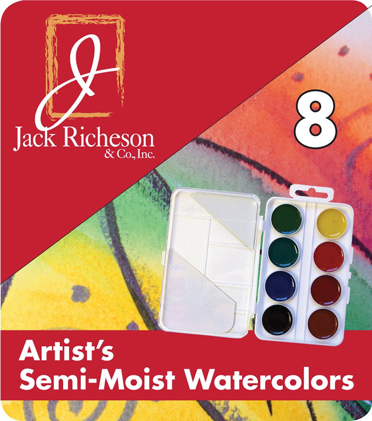 JACK RICHESON RICHESON ARTIST'S SEMI MOIST WATERCOLOUR SET/8
