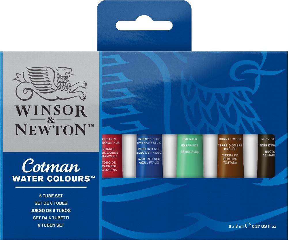 WINSOR NEWTON COTMAN WATERCOLOUR SET/6 TUBES