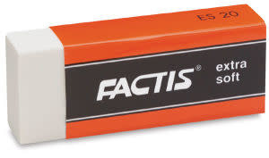 FACTIS EXTRA SOFT WHITE VINYL ERASER