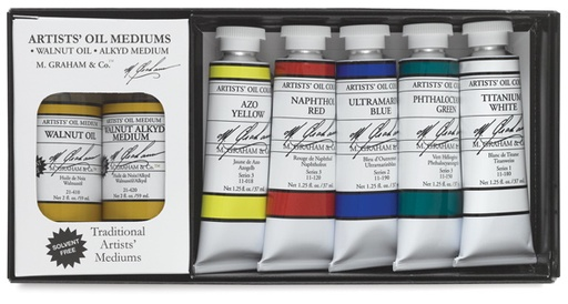 M GRAHAM M GRAHAM SOLVENT FREE OIL SET/5